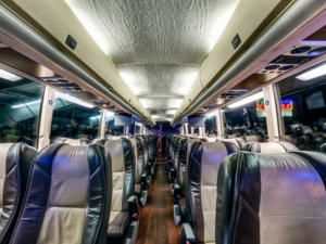 interior luxury motor coach san luis obispo
