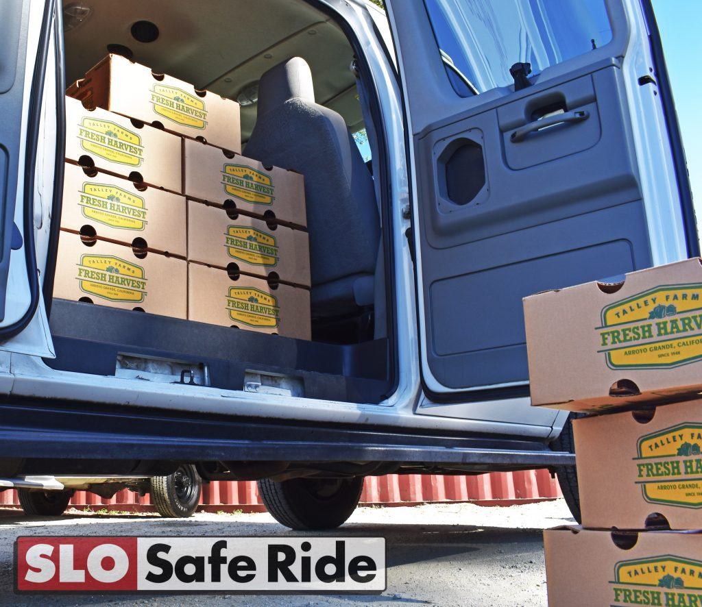 Fresh Harvest delivery by SLO Safe Ride